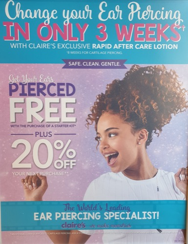 Get your ears pierced at Claire's! - Rochdale Exchange